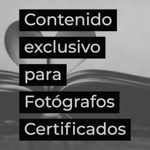 contenido exclusivo para fotografos certificados