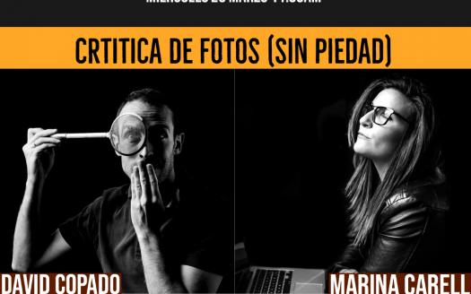 critico di foto con David Copado e Marina Carell